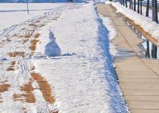 Snowmobile Paths royalty free stock photos