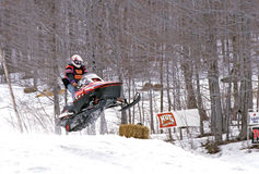 Snowmobile race Stock Images