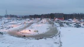 Snowmobile Races In The Winter Season Russia Championship On