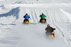 Snowmobile Racing Stock Photos