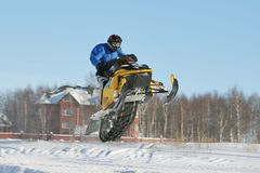 Snowmobile Racing Stock Image