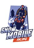 Snowmobile racing badge design. Vector of snowmobile racing badge design Royalty Free Stock Images