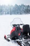 Snowmobile ready to go Royalty Free Stock Photo