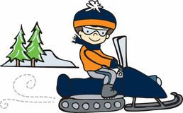 Snowmobile Rider Royalty Free Stock Images