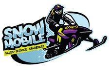 Snowmobile shop sign design. Vector of snowmobile shop sign design Stock Images