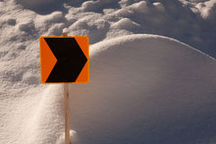 Snowmobile sign Stock Image