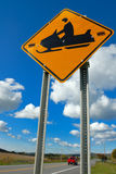 Snowmobile sign Royalty Free Stock Photo