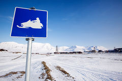 Snowmobile Sign Royalty Free Stock Images