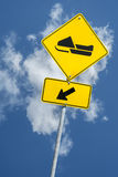 Snowmobile sign Stock Images
