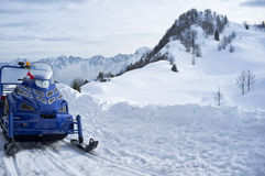 Snowmobile on snow Stock Photo