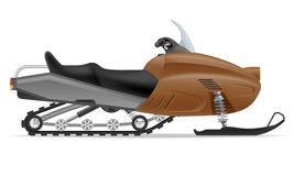 Snowmobile for snow ride vector illustration Stock Image