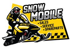 Snowmobile store and garage design. Vector of snowmobile store and garage design Stock Images