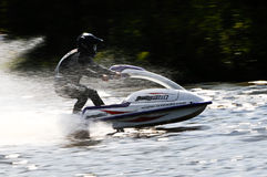 Snowmobile su acqua Fotografia Stock