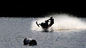 Snowmobile sur l'eau Images libres de droits