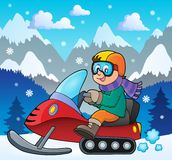 Snowmobile theme image 2 Royalty Free Stock Photography