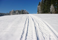 Snowmobile track Royalty Free Stock Images