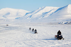 Snowmobile Travel Royalty Free Stock Photos