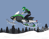 Snowmobile trips Royalty Free Stock Photos