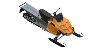 Snowmobile Typer av utrustning från olika sidor framförande 3d Arkivfoton