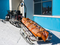 Snowmobile used by emergency services in ski area Stock Photography