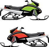 Snowmobile vector file Stock Images