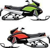 Snowmobile vector file. Snowmobile vector illustration clip-art eps Stock Images