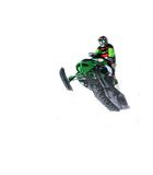 Snowmobile white background Royalty Free Stock Images