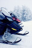Snowmobiles Immagine Stock