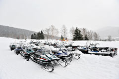 Snowmobiles Photographie stock
