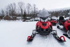 snowmobiles Immagini Stock