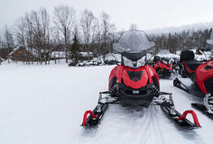 Snowmobiles Stock Images
