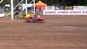 Snowmobiles, Sleds, Youth Sports stock video