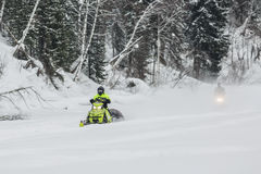 Snowmobiles Stock Photography