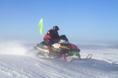 Snowmobiling Photo libre de droits