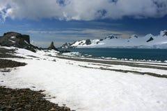 Snowmountans i Antarktis Fotografering för Bildbyråer