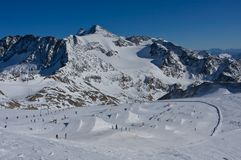 Snowpark in Austria Royalty Free Stock Image