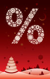 Snowpercent red Royalty Free Stock Images
