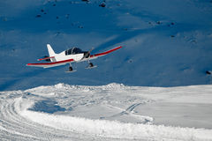 Snowplane Stockfotos