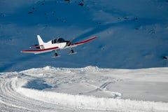 Snowplane Fotografie Stock