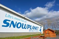 Snowplanet смотрело на в Окленде - Новой Зеландии стоковое фото