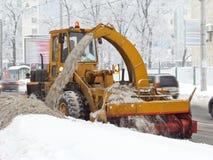 Snowplough Fotografia de Stock