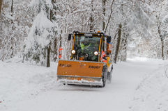 Snowplough Imagenes de archivo