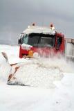 Snowplough do blizzard fotografia de stock
