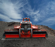 Snowplough or snowplow, Mount Etna, Sicily Royalty Free Stock Photography