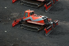 Snowplough or snowplow, Mount Etna, Sicily, Italy Stock Photo