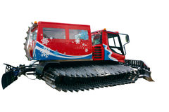 Snowplow. Colorful snowplow isolated on white Royalty Free Stock Image