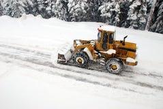 Snowplow fotografia de stock