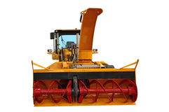 Snowplow. Of rotor type of big capacity isolated on the white Stock Photo