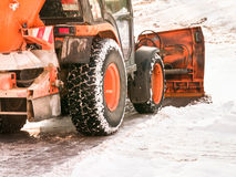 Snowplow. At a street in hamburg/germany Royalty Free Stock Photography