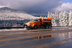 SNOWPLOW Fotos de Stock